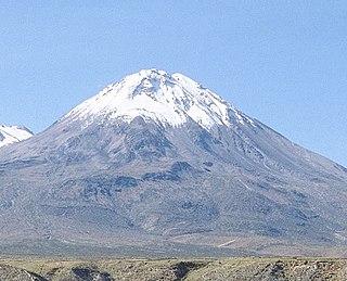 Yucamane volcano in Peru
