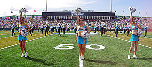 Tulane University Marching Band - TUMB and Shockwave perform at pregame in Yulman Stadium