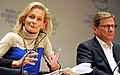Zanny Minton Beddoes, Guido Westerwelle World Economic Forum 2013.jpg