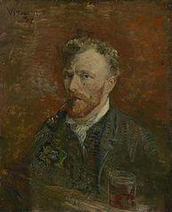 Self-Portrait with Glass