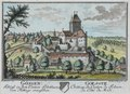 Zentralbibliothek Solothurn - GÖSGEN Schloss in dem Canton Solothurn von Mittage anzusehen Wappen GOESGUE Château du Canton de Soleure du Côté du Midi - a0185.tif