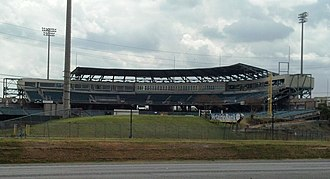 Shrine on Airline - Image: Zephyr Field Grandstand, Leftfield