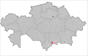 Location of Jambyl District, Jambyl in Kazakhstan