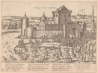 Zichem - The Spanish massacre the defenders of Zichem in 1578