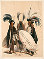 Zulu soldiers of the army of King Umpande (Panda), 1847.png