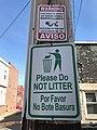 """""""Please Do NOT LITTER"""" sign, N. Bradford Street near E. Fayette Street, Baltimore, MD 21231 (47592537522).jpg"""