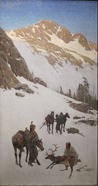 'Indian Elk Hunting' by Henry Farny, Cincinnati Art Museum.JPG