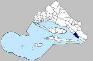 Podgora, Split-Dalmatia County - Image of Podgora municipality within the Split County