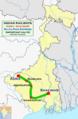 (Adra - Shalimar) Rajya Rani Express route map.png