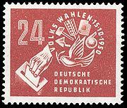 Élections de 1950 à la Volkskammer (timbre RDA)