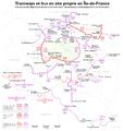 Île-de-France - plan des tramways et des bus en site propre (document de travail).png