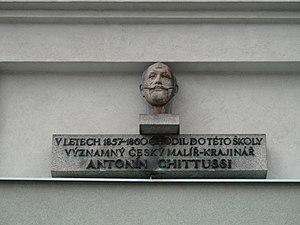Antonín Chittussi - Memorial Plaque in Čáslav