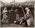 Казачки сносят кизяки в катух (сарай). Цимлянская станица. 1875-1876.jpg