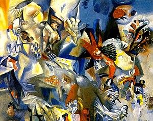 "Misha Brusilovsky - ""The Denial of St. Peter"". Canvas, oil. 86х105. 1982."