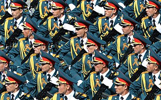 Military of Tajikistan - Contingent from the Tajik military during the Moscow Victory Day Parade, 9 May 2015