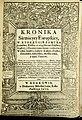 Тытульны аркуш Kronika Sarmacyey Europskiey (Хроніка Еўрапейскай Сарматыі). Кракаў. 1611.jpg