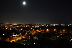 Skyline of Cherkasy at night