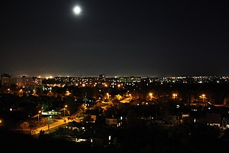 Cherkasy - Skyline of Cherkasy at night