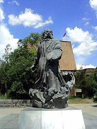 The statue of Aivazovsky in Yerevan, Armenia