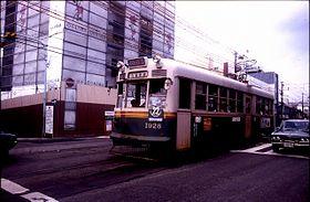 교토 시대의 1900형 1928호차(1978년 촬영) 현재는 광전 1912호차가 되어 있다