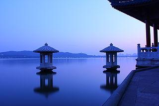 West Lake lake in Hangzhou, Zhejiang, China