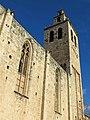 071 Monestir de Sant Cugat del Vallès, campanar, façana sud.JPG