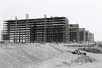 Brasília - Construction of the Ministries Esplanade in 1959