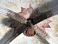 091 Sant Jeroni de la Murtra, refetor, clau de volta amb el senyal reial.JPG
