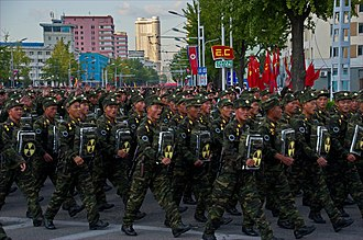 2017–18 North Korea crisis - Military parade in Pyongyang