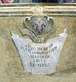 09 bernardino poccetti, martirio di san pietro, 1586 ca., stemma.JPG