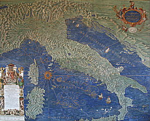 The Gallery of Maps - Map of Italy, Corsica and Sardinia – The Gallery of Maps – Vatican Museums.