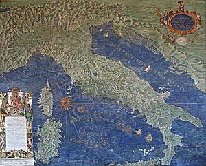 Ignazio Danti - Image: 0 Italie Corse Sardaigne Galleria delle carte geografiche
