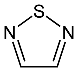 Thiadiazoles - Image: 1,2,5 thiadiazole 2D skeletal
