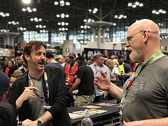 J. Scott Campbell - Campbell (left) was greatly influenced by Arthur Adams (right), seen here during an appearance at Campbell's booth at the 2017 New York Comic Con.