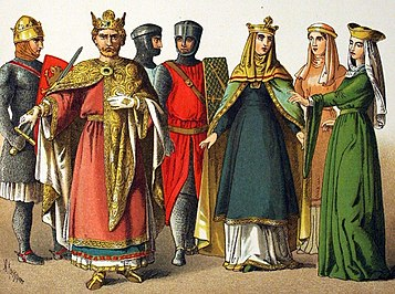 11th century Normans wearing dresses and skirts