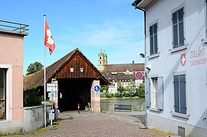 Holzbrücke Bad Säckingen - Image: 120827 Bad Säckingen 03