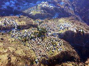 Esino Lario - Esino Lario from above