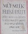 13 Jókai Street, plaque, 2020 Pápa.jpg