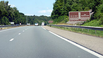 European watershed - Atlantic—Mediterranean watershed marker between Belfort and Mulhouse on the A36 autoroute