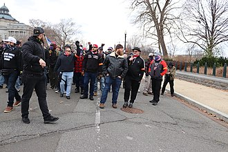 Proud Boys marching in front of the U.S. Supreme Court 16.ProudBoys.USSC.WDC.6January2021 (50810659967).jpg