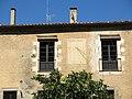 177 Can Mus (Premià de Dalt), façana oest, rellotge de sol.jpg