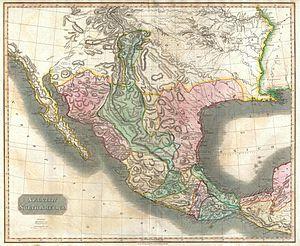 Facundo Melgares - Thomson map of Mexico and Texas, 1814