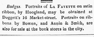 Independent Chronicle - Image: 1824 La Fayette portraits Independent Chronicle Boston Patriot Aug 21