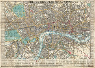New Road, London - New Road on an 1848 map after the construction of Regent's Park.