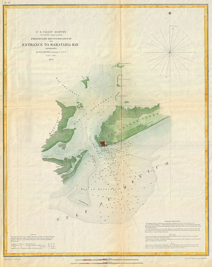 File US Coast Survey Map Or Chart Of Bartaria Bay - Map of the us in 1853
