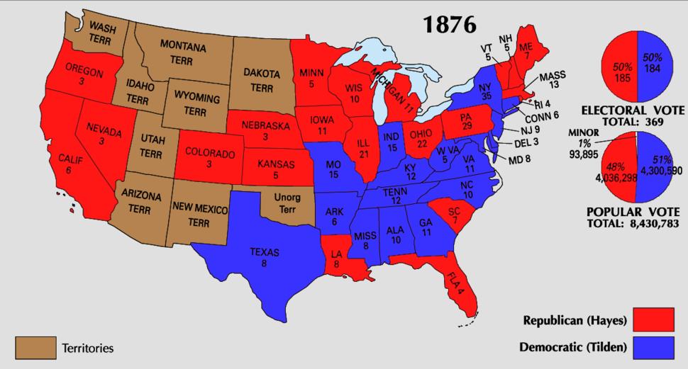 1876 Electoral Map