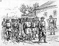 1888 Riots in Romania - Gendarmes bringing in prisoners.jpg
