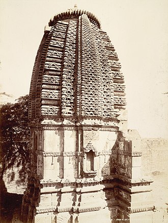 Chavda dynasty - Ranakadevi shrine from south-west, Wadhwan, 1899