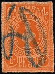 1903 1Peso Bolivar Colombia crayon Yv60 Mi57A.jpg