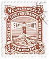 1905 NZ Government Life Insurance 3 pence brown.JPG
